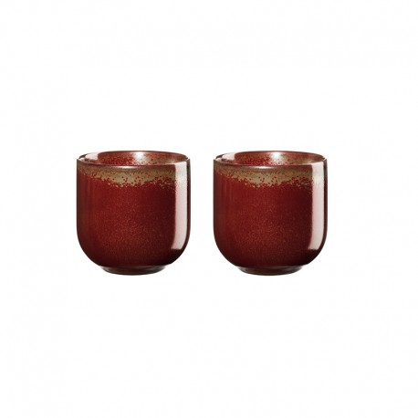 Set of 2 Teacups 150ml – Coppa Rusty Red - Asa Selection ASA SELECTION ASA19081176