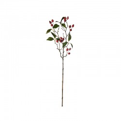 Single Berry Branch Red - Deko Red And Green - Asa Selection