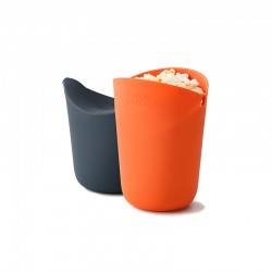 Popcorn Maker Set - M-Cuisine Orange And Grey - Joseph Joseph