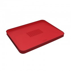 Chopping Board Red - Cut&Carve Plus - Joseph Joseph