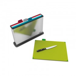 Chopping Board Set - Index Steel Silver - Joseph Joseph
