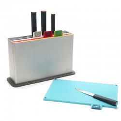 Chopping Board Set with Knives - Index Advance Silver - Joseph Joseph