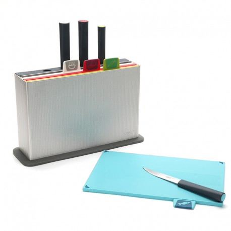 Chopping Board Set with Knives - Index Advance Silver - Joseph Joseph JOSEPH JOSEPH JJ60096