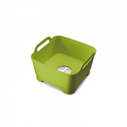 Washing up Bowl with Plug Green - Wash&Drain - Joseph Joseph