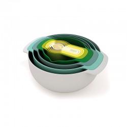 Conjunto 9 Taças de Mistura - Nest 9 Plus Opal - Joseph Joseph
