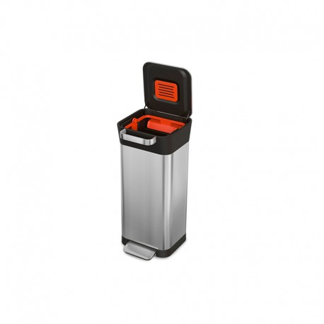 Trash Compactor - Titan 20 Stainless Steel And Black - Joseph Joseph JOSEPH JOSEPH JJ30037