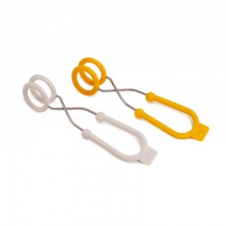Set of 2 Egg Boiling Tongs - O-Tongs Yellow And White - Joseph Joseph