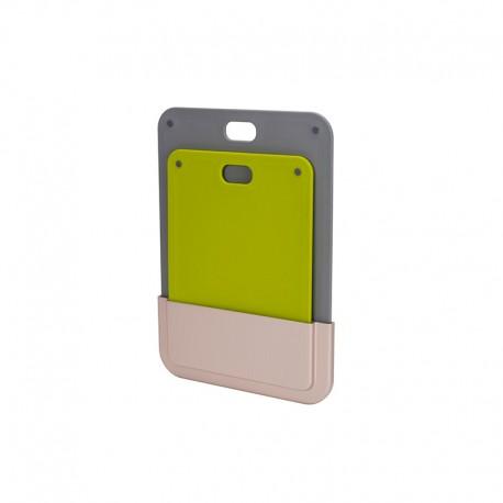 Set of 2 Chopping Boards - Elevate DoorStore Grey And Green - Joseph Joseph JOSEPH JOSEPH JJ60149