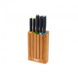 Bloco em Bambu com 5 Facas - Elevate Multicolorido - Joseph Joseph
