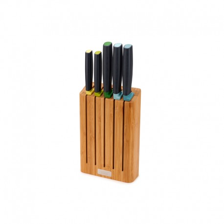5-piece Knife Set with Bamboo Block - Elevate Multicolour - Joseph Joseph JOSEPH JOSEPH JJ10300