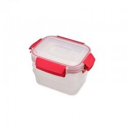 Set of 3 Storage Container - Nest Lock Red - Joseph Joseph