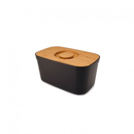 Bread Bin with Cutting Board Lid Black - Joseph Joseph JOSEPH JOSEPH JJ81103