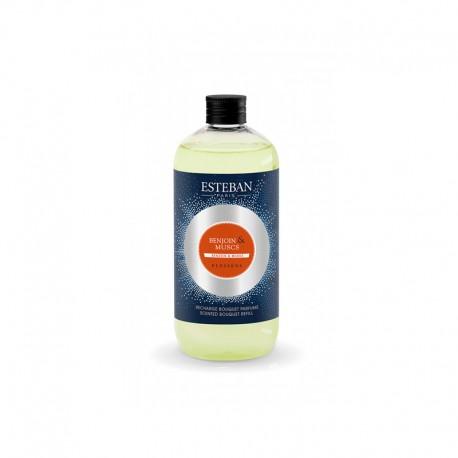 Recarga para Ambientador 500ml - Benjoim&Almíscar Azul - Esteban Parfums ESTEBAN PARFUMS ESTEBM-009
