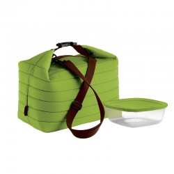 Thermal Bag and Airtight Container L Set Apple Green - Handy - Guzzini