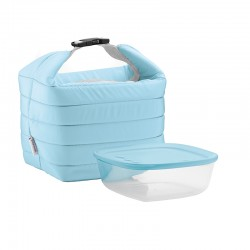 Thermal Bag and Airtight Container S Set Matt Blue - Handy - Guzzini