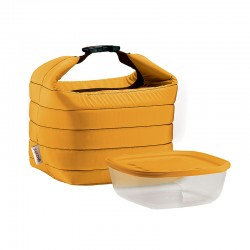 Thermal Bag and Airtight Container S Set Ochre - Handy - Guzzini