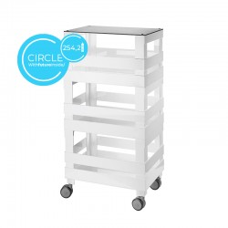 High Organiser Trolley Circle Grey - Tidy&Store - Guzzini