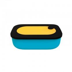 Lunch Box with Case 900ml Ochre - Store&Go Blue, Ochre And Black - Guzzini