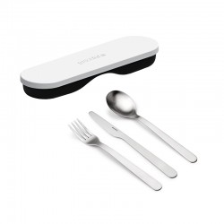 Travel Cutlery with Case White - Store&Go Black And White - Guzzini