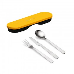 Travel Cutlery with Case Ochre - Store&Go - Guzzini GUZZINI GZ171101165