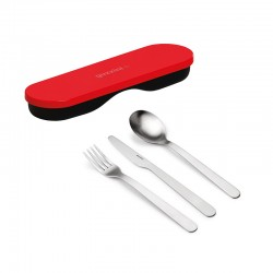 Travel Cutlery with Case Red - Store&Go - Guzzini GUZZINI GZ17110131