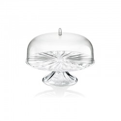 Cake Stand with Dome M - Aqua Clear - Guzzini