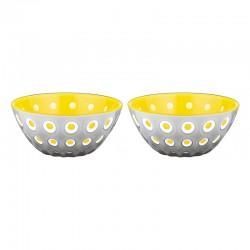 Set of 2 Bowls 12cm Yellow/Grey - Le Murrine Grey And Yellow - Guzzini GUZZINI GZ279412141