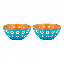 Set of 2 Bowls 12cm Blue/White/Orange - Le Murrine Blue, White And Orange - Guzzini GUZZINI GZ279412145