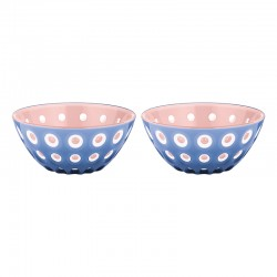 Set of 2 Bowls 12cm Pink/White/Blue - Le Murrine Pink, Blanco Y Azul - Guzzini GUZZINI GZ279412160