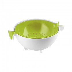 Colander and Bowl Set Green - Spin&Drain - Guzzini
