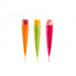 Conjunto de 3 Moldes para Gelado Verde, Laranja E Rosa - Lekue