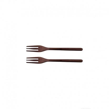 Set of 2 Forks - Wood Acacia Dark Brown - Asa Selection ASA SELECTION ASA53910970