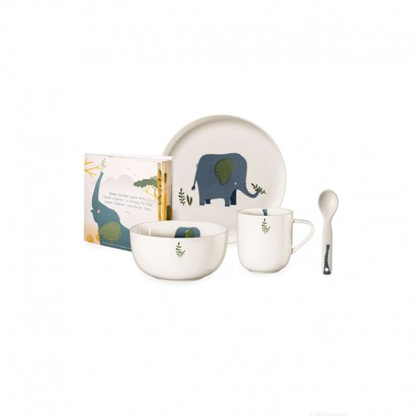 Set of 5 Pcs Tableware Emma Elephant - Kids - Asa Selection ASA SELECTION ASA38950314