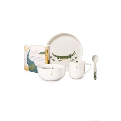 Set of 5 Pcs Tableware Croco Crocodile - Kids - Asa Selection