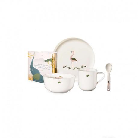 Set of 5 Pcs Tableware Fiona Flamingo - Kids - Asa Selection ASA SELECTION ASA38953314