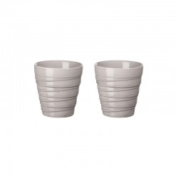 Set of 2 Thermo Mugs Espresso Twist Grey - Thermo - Asa Selection