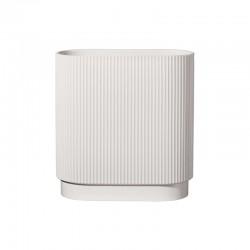 Vase 34,5cm Oval White - Artdeco - Asa Selection