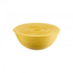 L Bowl with Lid Yellow - Tierra - Guzzini