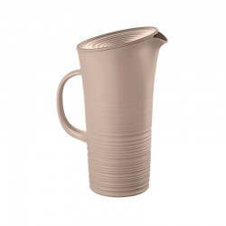 Pitcher with Lid Taupe - Tierra - Guzzini