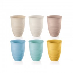Set of 6 Tall Tumbler - Tierra - Guzzini