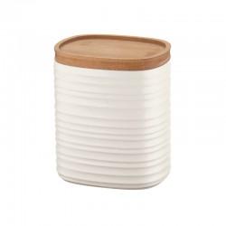 Storage Jar Medium White - Tierra - Guzzini