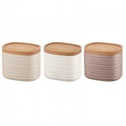 Set of 3 Small Jars - Tierra Clay, White And Taupe - Guzzini GUZZINI GZ18180252