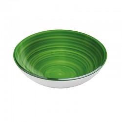 Medium Bowl Green - Twist White And Green - Guzzini