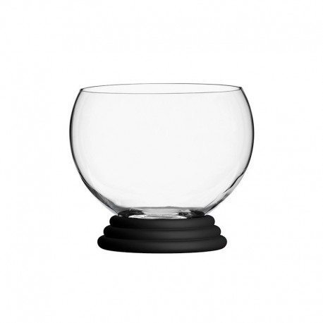 Set of 6 Glasses with Black Ring - Sfera Transparent And Black - Italesse ITALESSE ITL33306BF