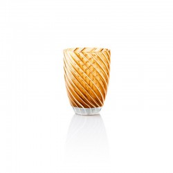 Tumbler Glass 380ml Amber - Vertigo Amber And White - Italesse
