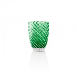 Tumbler Glass 380ml Green - Vertigo Green And White - Italesse