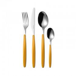 24-Piece Cutlery Set Ochre - My Fusion - Guzzini