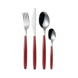 24-Piece Cutlery Set Red - My Fusion - Guzzini
