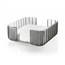 Rectangular Table Napkin Holder Grey - Grace - Guzzini