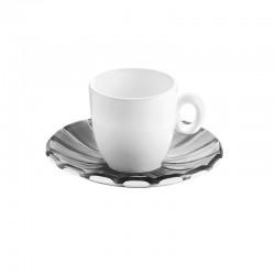 Conjunto 6 Chávenas para Espresso Cinza - Grace Cinza E Branco - Guzzini GUZZINI GZ28740192